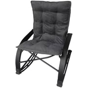 International Caravan Wembley Rocking Chair with Cushion; Grey