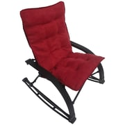 International Caravan Wembley Rocking Chair with Cushion; Cardinal Red