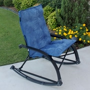 International Caravan Wembley Rocking Chair w/ Cushion; Indigo