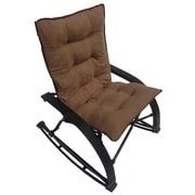 International Caravan Wembley Rocking Chair with Cushion; Saddle Brown