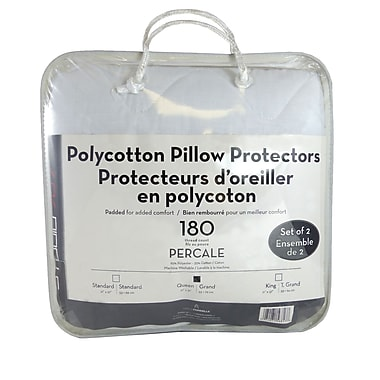Maison Condelle Pillow Protector Pair T180 Percale, King, White