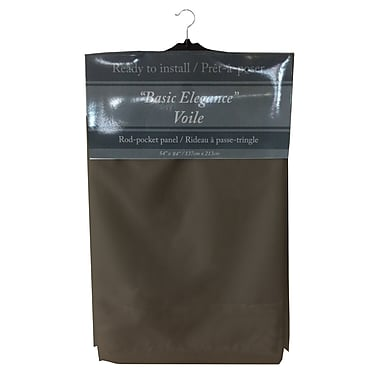 Maison Condelle Maison Condelle Basic Elegance Rod Pocket Voile Panels, Chocolate