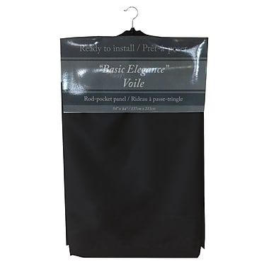 Maison Condelle Maison Condelle Basic Elegance Rod Pocket Voile Panels, Black