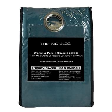 Maison Condelle – Rideaux coupe-lumière thermique à œillet en microsuède noir, 54 x96 po, aqua