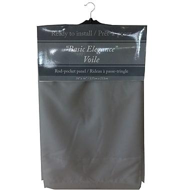 Maison Condelle – Rideau à passe-tringle « Basic Elegance », 54 x 96 po, gris