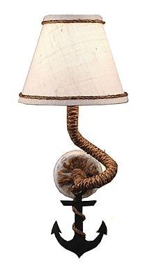 Coast Lamp Mfg. Coastal Living Rope and Anchor Plug-In Wall Sconce WYF078277535507