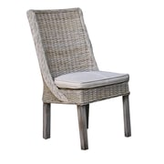 Panama Jack Sunroom Exuma Side Chair with Cushion; Canvas Natural