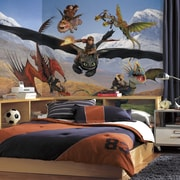 Room Mates Prepasted How to Train Your Dragon Wall Mural