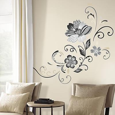 Room Mates Deco 22 Piece Flower Scroll Wall Decal WYF078277536724