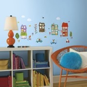 Room Mates Nintendo 32 Piece Happy Town Wall Decal