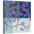 Art Wall 'Blue Gate' by Herb Dickinson Painting Print on Canvas Poster; 24'' H x 24'' W