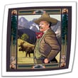 Art Wall 'Teddy Roosevelt' by Rick Kersten Painting Print on Canvas Poster; 18'' H x 18'' W