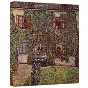 ArtWall 'House of Guardaboschi' by Gustav Klimt Canvas Painting Print; 14'' H x 14'' W