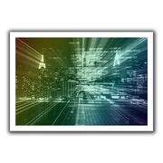 ArtWall 'City Lights' by John Black Canvas Poster; 20'' H x 28'' W