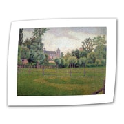 ArtWall ''Church at Gisors'' by Camille Pissarro Painting Print on Canvas; 24'' H x 32'' W