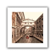 ArtWall 'Venice Bridge of Signs' by Linda Parker Photographic Print on Canvas; 18'' H x 18'' W