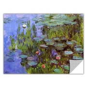 ArtWall ArtApeelz 'Sea Roses' by Claude Monet Painting Print; 36'' H x 48'' W x 0.1'' D