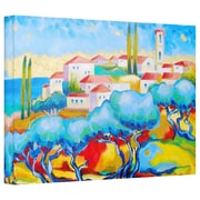 ArtWall 'Greece by the Sea' by Susi Franco Painting Print Canvas; 32'' H x 48'' W