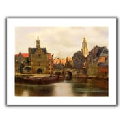 ArtWall 'View of Delft II' by Johannes Vermeer Canvas Poster; 30'' H x 36'' W