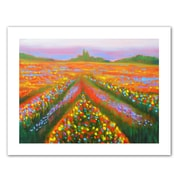 ArtWall Floral Landscape' by Susi FrancoPainting Print on Rolled Canvas; 36'' H x 48'' W
