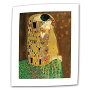 ArtWall The Kiss by Gustav Klimt Print of Painting on Rolled Canvas; 40'' H x 26'' W
