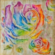 Yosemite Home Decor Revealed Artwork Colored Roses I Original Painting on Wrapped Canvas