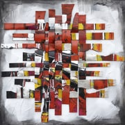 Yosemite Home Decor Revealed Artwork Movement In Red Original Painting on Wrapped Canvas