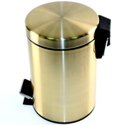 Gedy by Nameeks Argenta 1.47 Gallon Step-On Stainless Steel Trash Can; Bronze