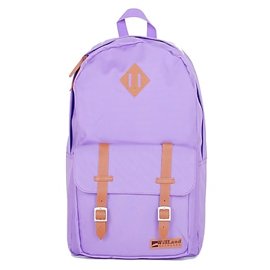 WillLand Outdoors College Romantica 25L Backpack, Light Purple