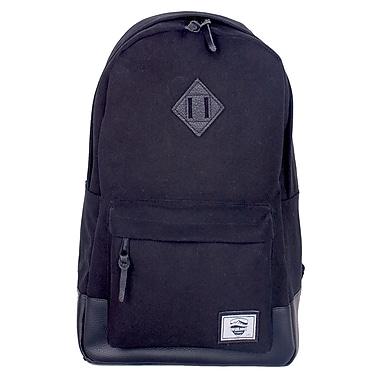WillLand Outdoors Noir Baytona 25L Full Canvas Backpack, Dark Night