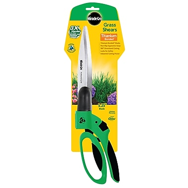 Miracle-Gro® Titanium Bonded Grass Shear Made from Recycled Materials, 3/Pack