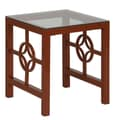 In Style Furnishings Medallion End Table; Red