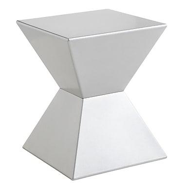Sunpan Modern Rocco End Table; Silver