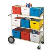 Charnstrom Long 3 Shelf Mobile Bin Utility Cart