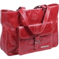 Clark & Mayfield Stafford Vintage Laptop Tote Bag; Red