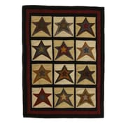 Homespice Decor Penny Star Patch Black/Beige Area Rug; Runner 2'6'' x 9'