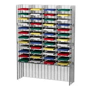 Charnstrom 48 Adjustable Pockets Wire Mail Sorter and Riser; 64.5'' H x 48'' W x 15'' D
