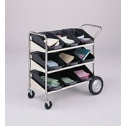 Charnstrom 3 Shelf Mobile Bin File Cart