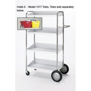 Charnstrom Medium 4 Shelf Mobile Bin Utility Cart