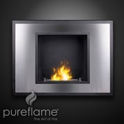 PureFlame Vahni UL/ULC Listed Wall Mount Bio-Ethanol Fireplace