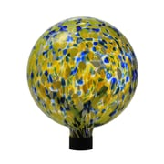 Russco III Inc Glass Gazing Ball with Solar Insert; Yellow