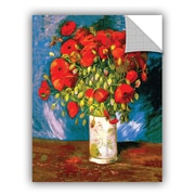 ArtWall Poppies by Vincent Van Gogh Art Appeelz Removable Wall Decal; 24'' H x 18'' W x 0.1'' D