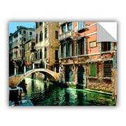 ArtWall Venice Canal by George Zucconi Art Appeelz Removable Wall Mural; 18'' H x 24'' W x 0.1'' D