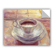 ArtWall Coffee Cup by Svetlana Novikova Art Appeelz Removable Wall Mural; 18'' H x 24'' W x 0.1'' D