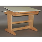 SMIProducts PD Series Computer Station with Keyboard Tray; Natural Oak (Standard)