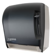 Palmer Fixture Lever Roll Towel Dispenser; Black/White