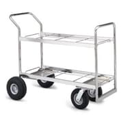 Charnstrom Long Double Decker File Cart; Air Casters / Tires