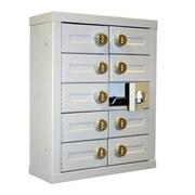 Charnstrom 10 Door Locking Cell Phone Cabinet w/ Combination Lock