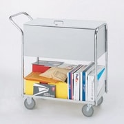 Charnstrom Security Medium File Cart with Casters and Locking Top