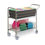 Charnstrom Medium Wire Basket File Cart w/ Casters